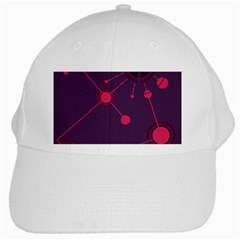 Abstract Lines Radiate Planets Web White Cap by Nexatart