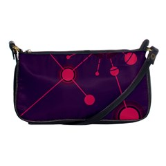 Abstract Lines Radiate Planets Web Shoulder Clutch Bags by Nexatart