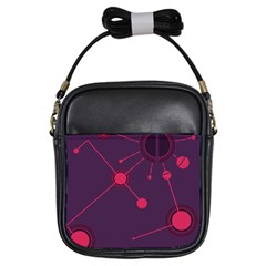 Abstract Lines Radiate Planets Web Girls Sling Bags by Nexatart