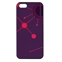 Abstract Lines Radiate Planets Web Apple Iphone 5 Seamless Case (black)