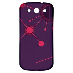 Abstract Lines Radiate Planets Web Samsung Galaxy S3 S Iii Classic Hardshell Back Case by Nexatart