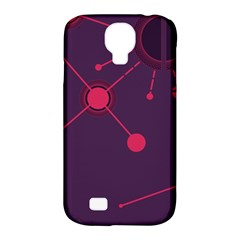 Abstract Lines Radiate Planets Web Samsung Galaxy S4 Classic Hardshell Case (pc+silicone)