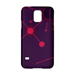 Abstract Lines Radiate Planets Web Samsung Galaxy S5 Hardshell Case