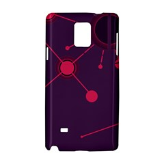 Abstract Lines Radiate Planets Web Samsung Galaxy Note 4 Hardshell Case