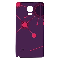 Abstract Lines Radiate Planets Web Galaxy Note 4 Back Case by Nexatart