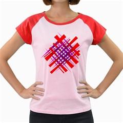 Chaos Bright Gradient Red Blue Women s Cap Sleeve T Shirt