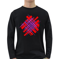 Chaos Bright Gradient Red Blue Long Sleeve Dark T Shirts