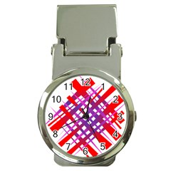 Chaos Bright Gradient Red Blue Money Clip Watches by Nexatart