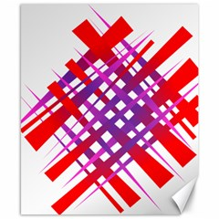 Chaos Bright Gradient Red Blue Canvas 8  X 10  by Nexatart