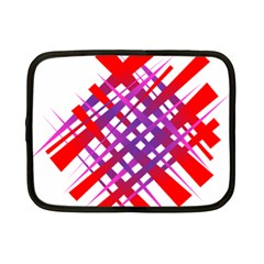 Chaos Bright Gradient Red Blue Netbook Case (small)  by Nexatart