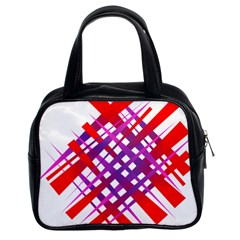 Chaos Bright Gradient Red Blue Classic Handbags (2 Sides)