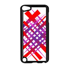 Chaos Bright Gradient Red Blue Apple Ipod Touch 5 Case (black)