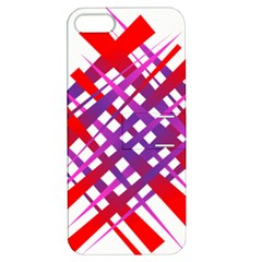 Chaos Bright Gradient Red Blue Apple Iphone 5 Hardshell Case With Stand by Nexatart