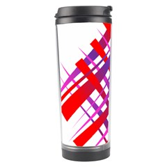 Chaos Bright Gradient Red Blue Travel Tumbler by Nexatart