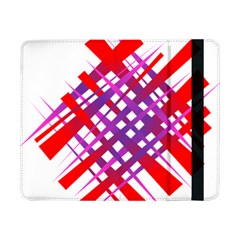 Chaos Bright Gradient Red Blue Samsung Galaxy Tab Pro 8 4  Flip Case