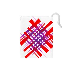 Chaos Bright Gradient Red Blue Drawstring Pouches (small)