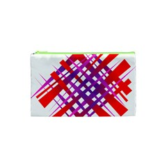 Chaos Bright Gradient Red Blue Cosmetic Bag (xs) by Nexatart