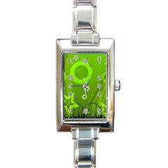 Art About Ball Abstract Colorful Rectangle Italian Charm Watch by Nexatart