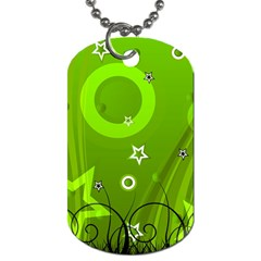 Art About Ball Abstract Colorful Dog Tag (two Sides) by Nexatart