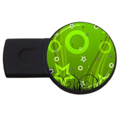 Art About Ball Abstract Colorful Usb Flash Drive Round (2 Gb)