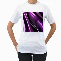 Fractal Mathematics Abstract Women s T Shirt (white)  by Nexatart