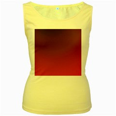 Course Colorful Pattern Abstract Women s Yellow Tank Top