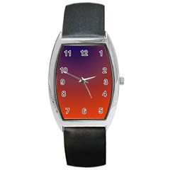 Course Colorful Pattern Abstract Barrel Style Metal Watch