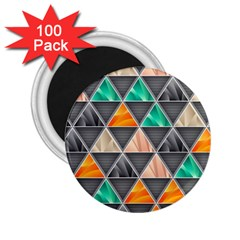Abstract Geometric Triangle Shape 2 25  Magnets (100 Pack)