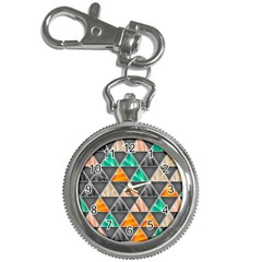 Abstract Geometric Triangle Shape Key Chain Watches