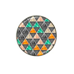 Abstract Geometric Triangle Shape Hat Clip Ball Marker by Nexatart