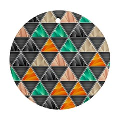 Abstract Geometric Triangle Shape Round Ornament (two Sides)