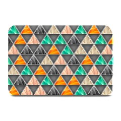 Abstract Geometric Triangle Shape Plate Mats by Nexatart