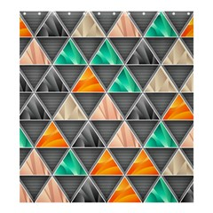 Abstract Geometric Triangle Shape Shower Curtain 66  X 72  (large)  by Nexatart