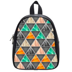 Abstract Geometric Triangle Shape School Bags (small)  by Nexatart