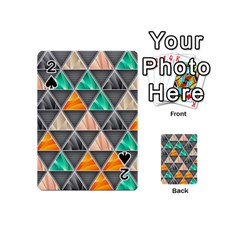 Abstract Geometric Triangle Shape Playing Cards 54 (mini)  by Nexatart