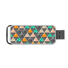 Abstract Geometric Triangle Shape Portable Usb Flash (two Sides)