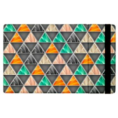 Abstract Geometric Triangle Shape Apple Ipad 2 Flip Case