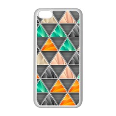 Abstract Geometric Triangle Shape Apple Iphone 5c Seamless Case (white) by Nexatart