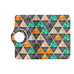 Abstract Geometric Triangle Shape Kindle Fire Hd (2013) Flip 360 Case by Nexatart