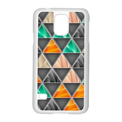 Abstract Geometric Triangle Shape Samsung Galaxy S5 Case (white) by Nexatart