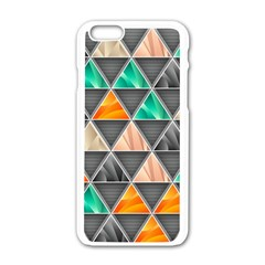 Abstract Geometric Triangle Shape Apple Iphone 6/6s White Enamel Case by Nexatart