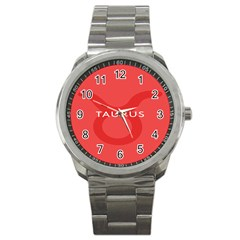 Zodizc Taurus Red Sport Metal Watch by Mariart