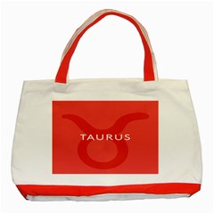 Zodizc Taurus Red Classic Tote Bag (red) by Mariart