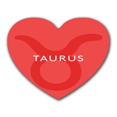 Zodizc Taurus Red Heart Mousepads by Mariart