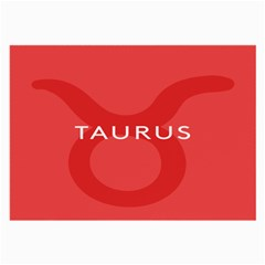 Zodizc Taurus Red Large Glasses Cloth (2 Side) by Mariart