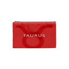 Zodizc Taurus Red Cosmetic Bag (small)  by Mariart