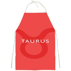 Zodizc Taurus Red Full Print Aprons by Mariart