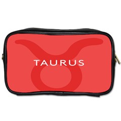 Zodizc Taurus Red Toiletries Bags 2 Side by Mariart