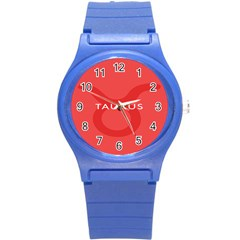Zodizc Taurus Red Round Plastic Sport Watch (s) by Mariart