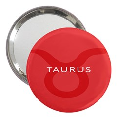 Zodizc Taurus Red 3  Handbag Mirrors by Mariart